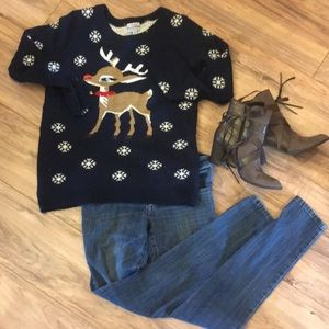 Christmas Sweater by 100% Poof; Rudolph with Bell
